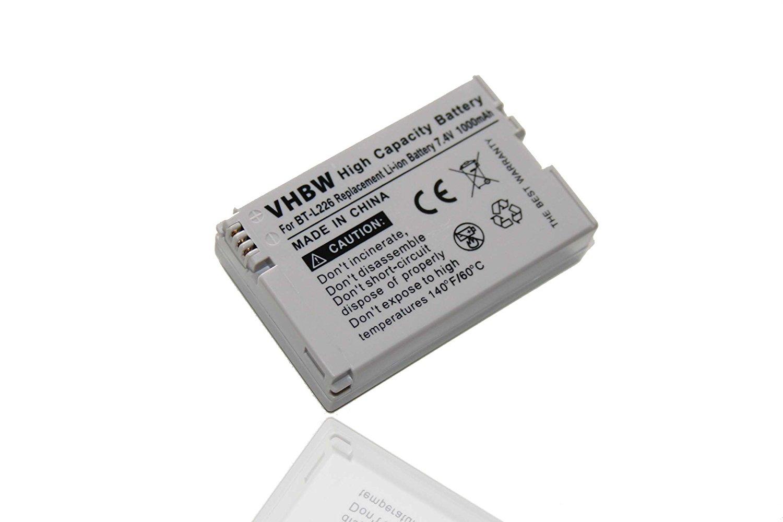 vhbw Batería Li-Ion 1000mAh (7.4V) para videocámaras Video Sharp VL800, VLZ-8H, VLZ1, VLZ10, VLZ101, VLZ11, VLZ1E sustituye BT-L226, BT-L226U, BT-L227