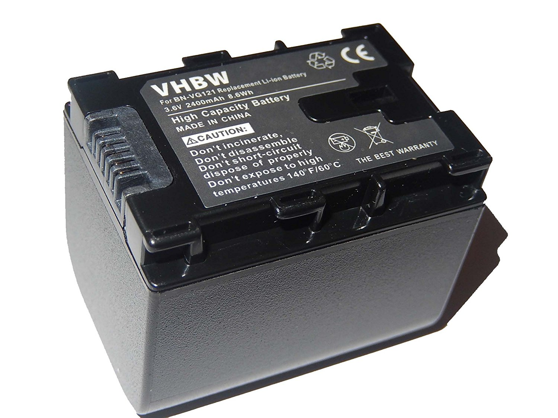 vhbw Li-Ion batería 2400mAh (3.6V) para cámara de video JVC GZ-MG980-R, GZ-MG980-S, GZ-MS110, GZ-MS110BEK por BN-VG121, BN-VG121AC