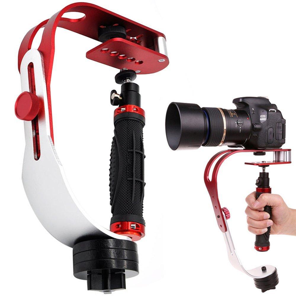 AFUNTA Portátil Estabilizadores de Cámara Estable Steadicam, Perfecto para GoPro Canon Nikon Sony Fujifilm DSLR y DV Cámaras hasta 2.1 lbs Con Suave Estable Glide Cam