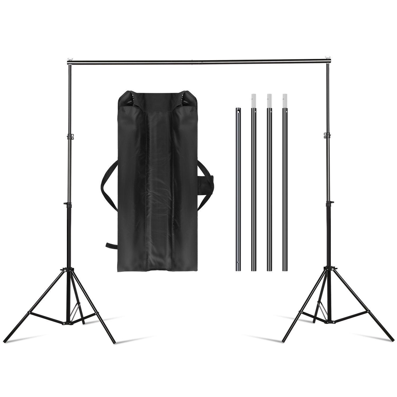Amzdeal Soporte de Fondo Fotografia Sistema de Soporte 2m x 3m de Estudio Profesional para Foto y Vídeo+1 x Bolsa de Transporte