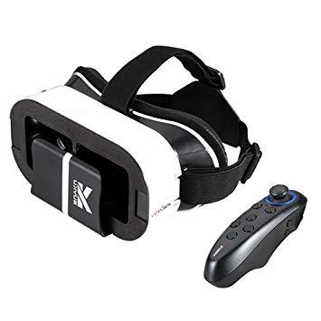 buykuk 3d VR auriculares 3d Vr gafas 3d Auriculares VR Virtual realidad ajustable lente y correa para iPhone o Android para 3d películas y juegos