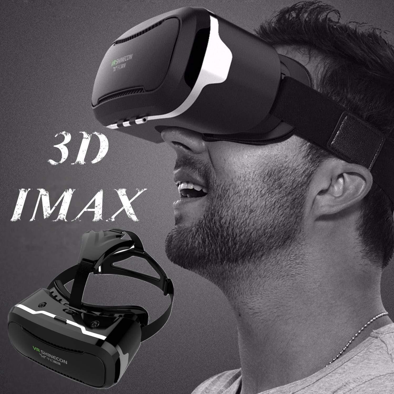 """Gafas de realidad virtual 3D VR para [IMAX] Vídeos Juegos 3D, Teléfono Box 360 Viewer para iOS iPhone 8 7 6S 6 Plus Android Samsung S8 S7 S6 Edge PC LG y otros smartphones de 4,5""""-6,0"""""""