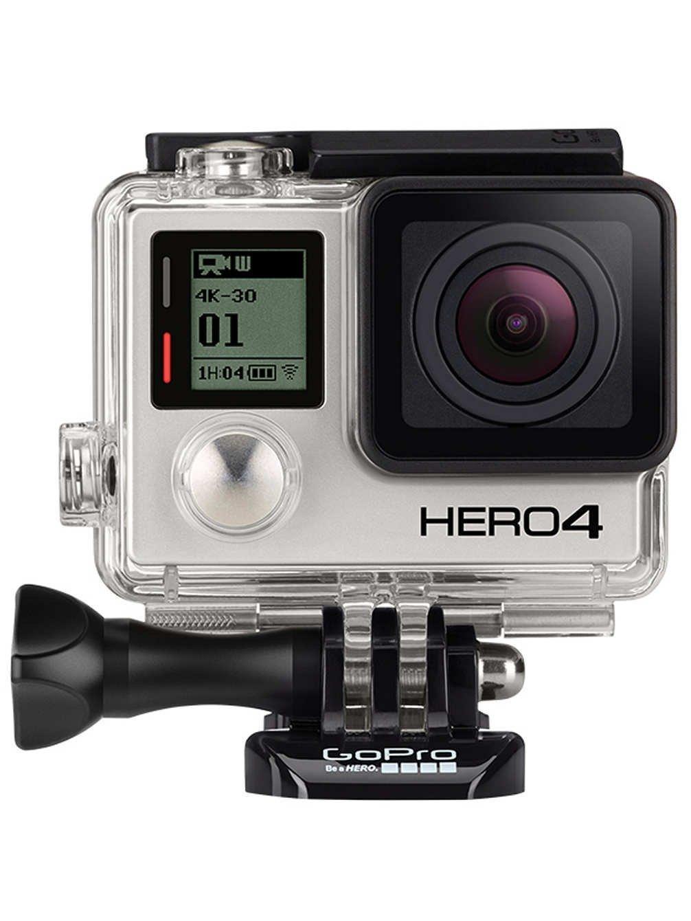 GoPro CHDHX-401-DE HERO4 Black Edition Adventure - Videocámara deportiva (12 Mp, Wi-Fi, Bluetooth, sumergible hasta 40 m), versión inglesa/alemana