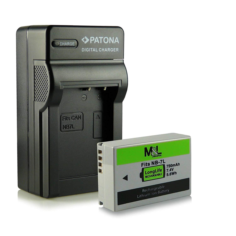 Juego de accesorios para cámaras digitales/cámaras de vídeo con batería Canon NB-7L, NB7L