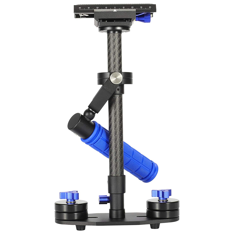 Morros Mini Carbon Fiber Handheld cámara Steadycam Estabilizador de vídeo Rig Para DSLR DV de la cámara