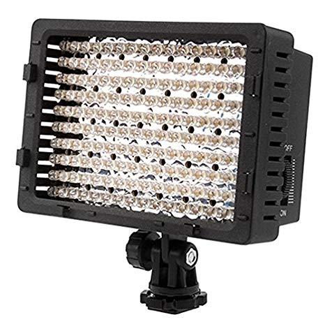 NEEWER CN-160 - Panel de luz LED regulable de 160 piezas para cámara de vídeo y digital SLR Canon Nikon, Pentax, Panasonic, Sony, Samsung y Olympus