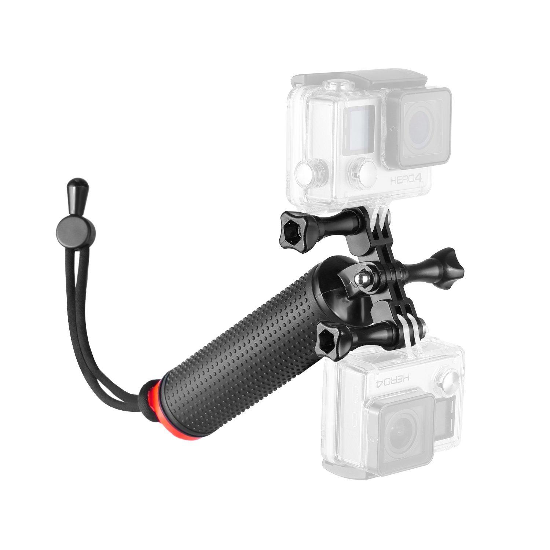 Neewer resistente al agua flotante mano mango estabilizador de mano para GoPro Hero 43+ con doble pantalla plana y soporte para teléfono para iphone7Plus 7y más, 2ángulos de disparo simultáneamente también como selfie stick