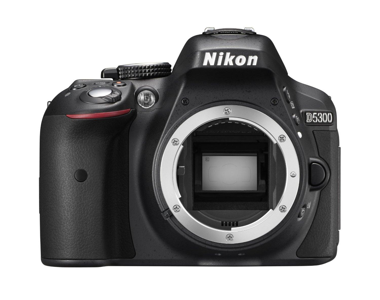 """Nikon D5300 - Cámara réflex digital de 24.2 Mp (pantalla 3.2"""", vídeo Full HD, GPS), color negro - sólo cuerpo"""