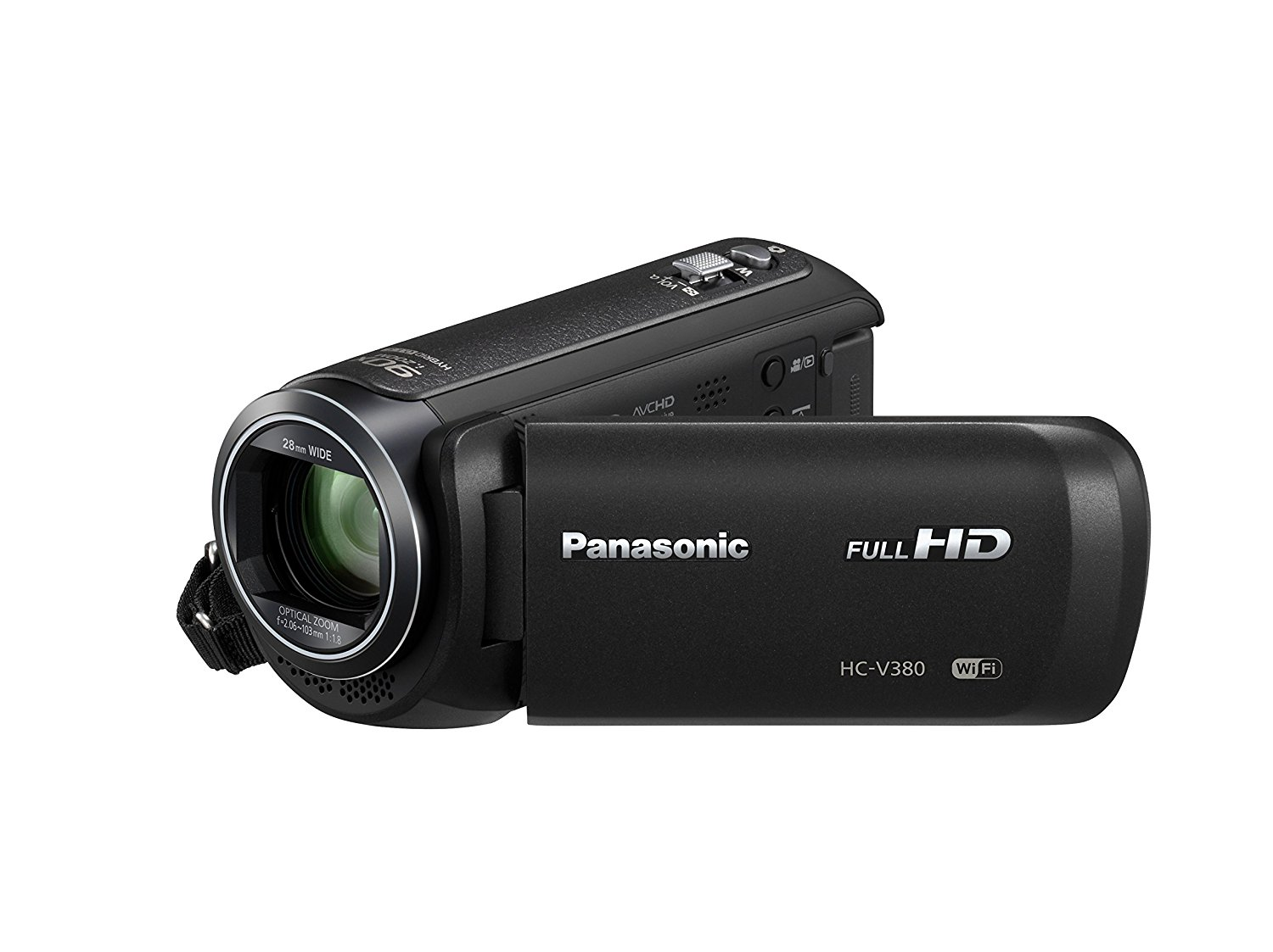 "Panasonic HC-V380EG-K Full HD Soporte de - Videocámara (2,51 MP, Mos BSI, 25,4/5,8 mm (1/5.8""), 1,67 MP, 2,2 MP, 50x)"