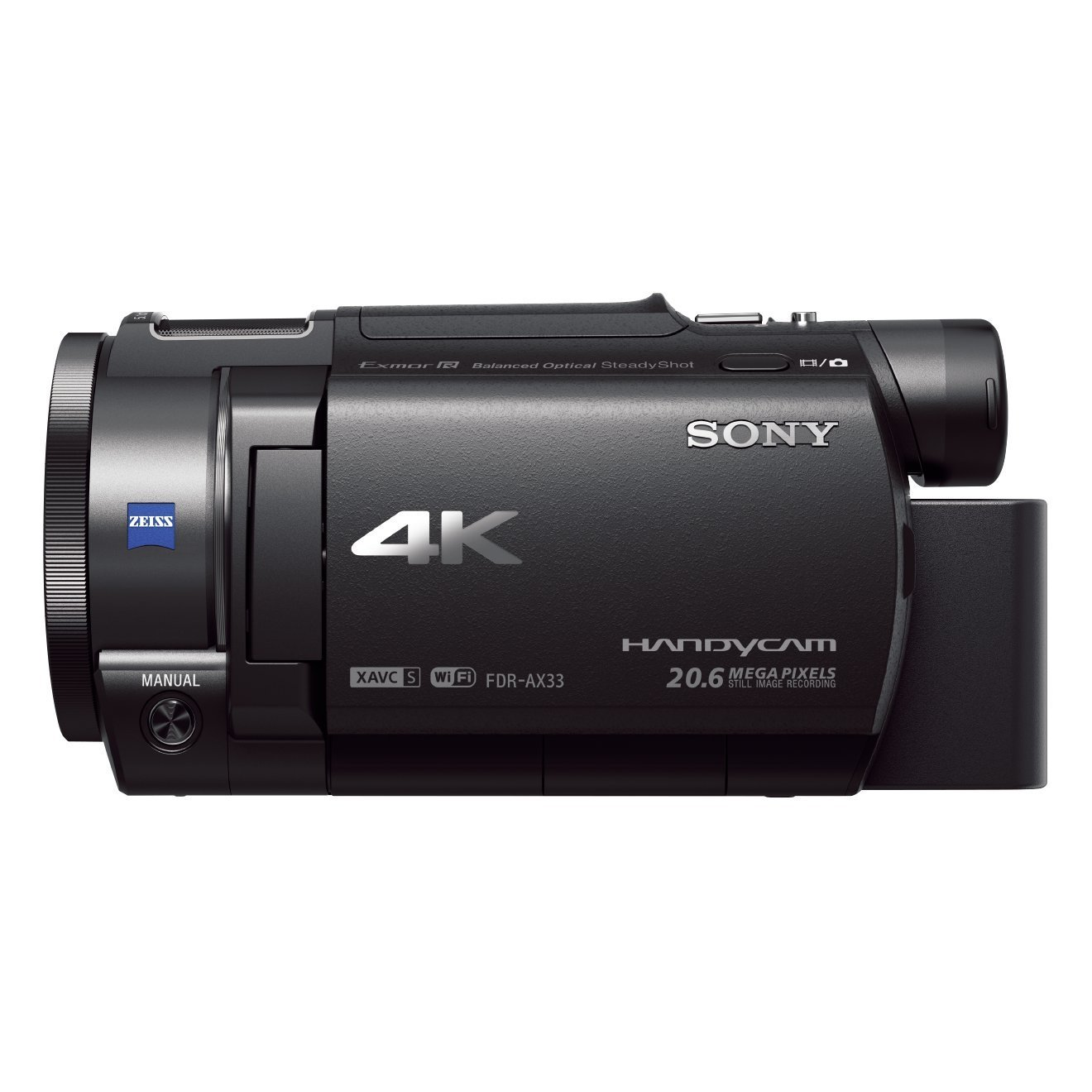 "Sony Handycam FDR-AX33 4KUHD - Videocámara (pantalla de 3"", zoom óptico 10x, estabilizador óptico), negro"