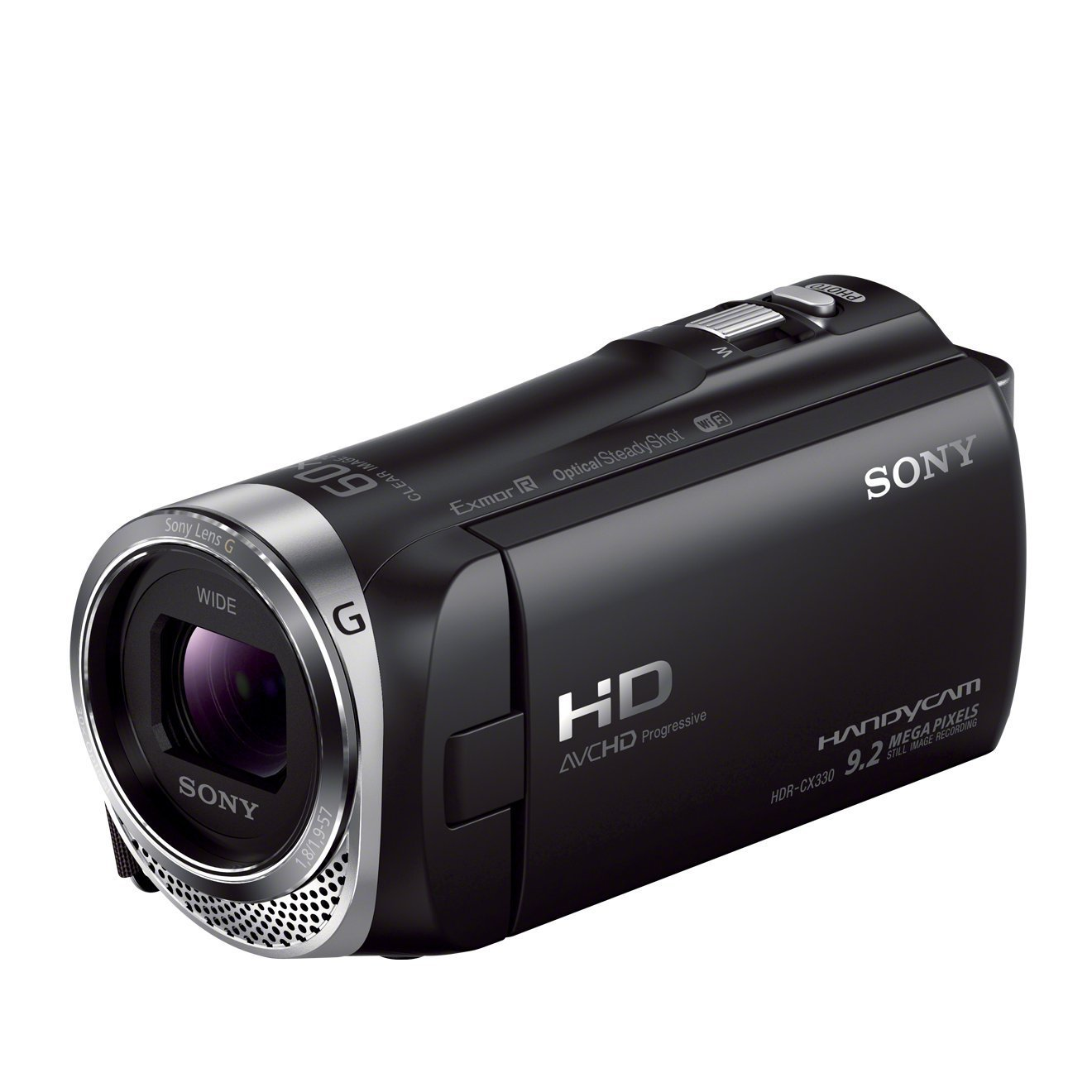 "Sony Handycam HDR-CX330E - Videocámara Full HD 1080p (2.3 Mp, pantalla de 2.7"", zoom óptico 30x, estabilizador, WiFi), negro"