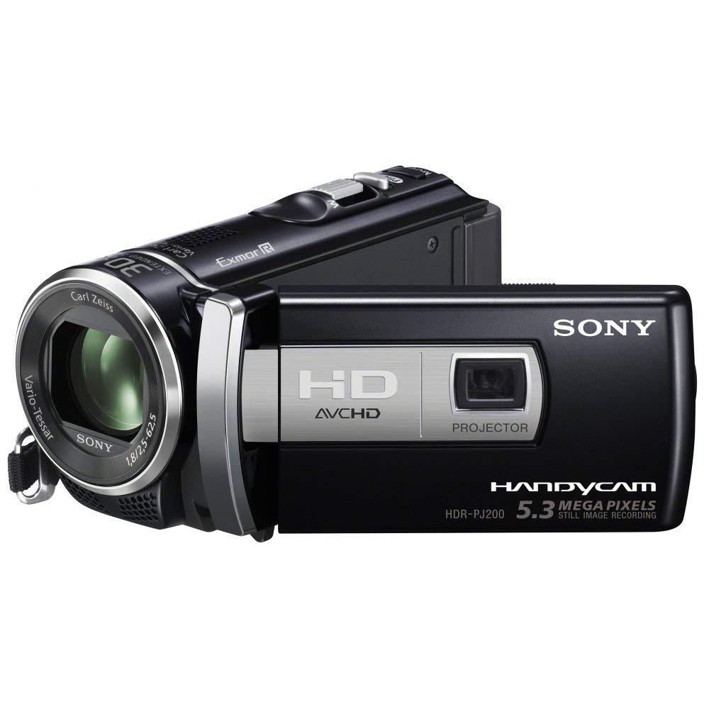 "Sony PJ200E - Videocámara (CMOS, 5,3 MP, 1/0,228 mm (1/5.8""), 25x, 300x, 2,5 - 62,5 mm) Negro"