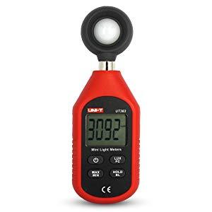UNI-T UT383 Mini Digital Medidor de luz 200,000 LUX Luxómetro Iluminómetro con Pantalla LCD, Fotómetro Digital profesional, Medidor Iluminación