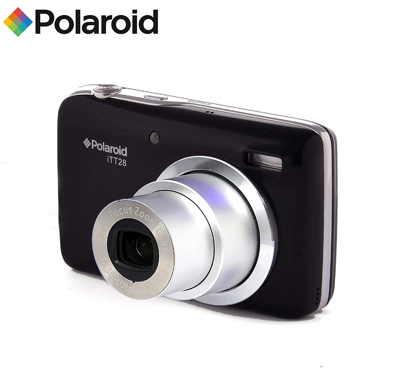 20MP cámara digital ultra compacta con zoom óptico 20x lente Polaroid ITT28 (negro)