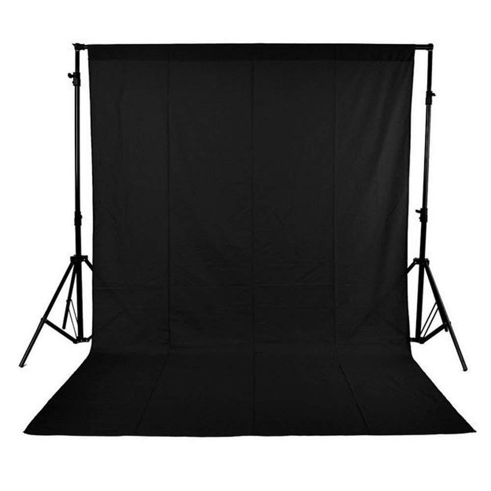 Andoer® 1,6 x 3 m / 5 x 10 FT Telón de Fondo Pantalla No Tejido para Estudio de Fotografía sin el soporte (Negro Fondo de estudio 1.6m * 3m)