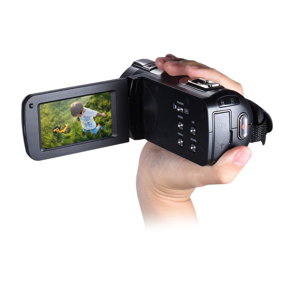 Andoer–HDV de 312p 1080P Full Hd Cámara De Vídeo Digital beweglicher Principal de vídeo DV con 2.7pulgadas LCD de pantalla de Rotating Max. 20Mpx 16× Digital de zoom