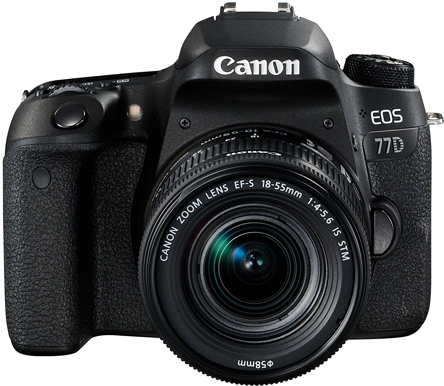 Canon EOS 77D - Cámara réflex DE 24.2 MP (vídeo Full HD, WiFi, Bluetooth) Negro - Kit Cuerpo con Objetivo EF-S 18-55 IS STM