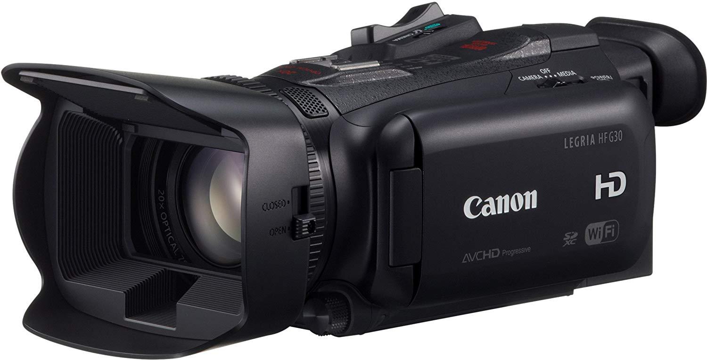 "Canon Legria HF G30 - Videocámara (3 Mp, 900 g, pantalla de 3.5"", zoom óptico 20x, estabilizador óptico), negro [importado]"