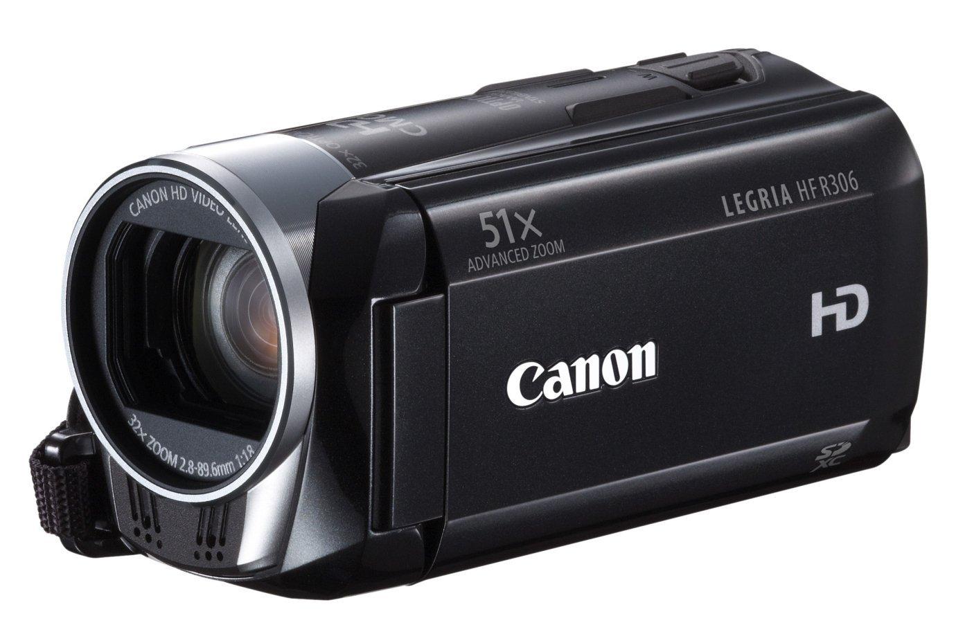 Canon Legria HFR306 - Cámara de vídeo HD (puerto SD/SDHC, 3,2 Mpx, zoom óptico de 32x), color negro