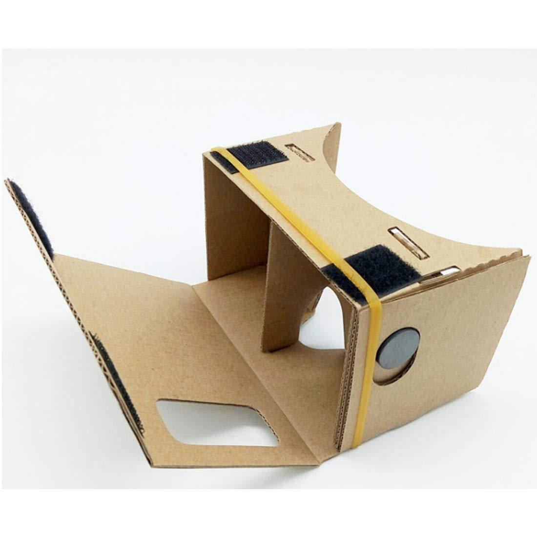 Cartón VR Caja Bricolaje Virtual Realidad 3D Gafas Imán Caja Controlador 3D VR Realidad Virtual Gafas