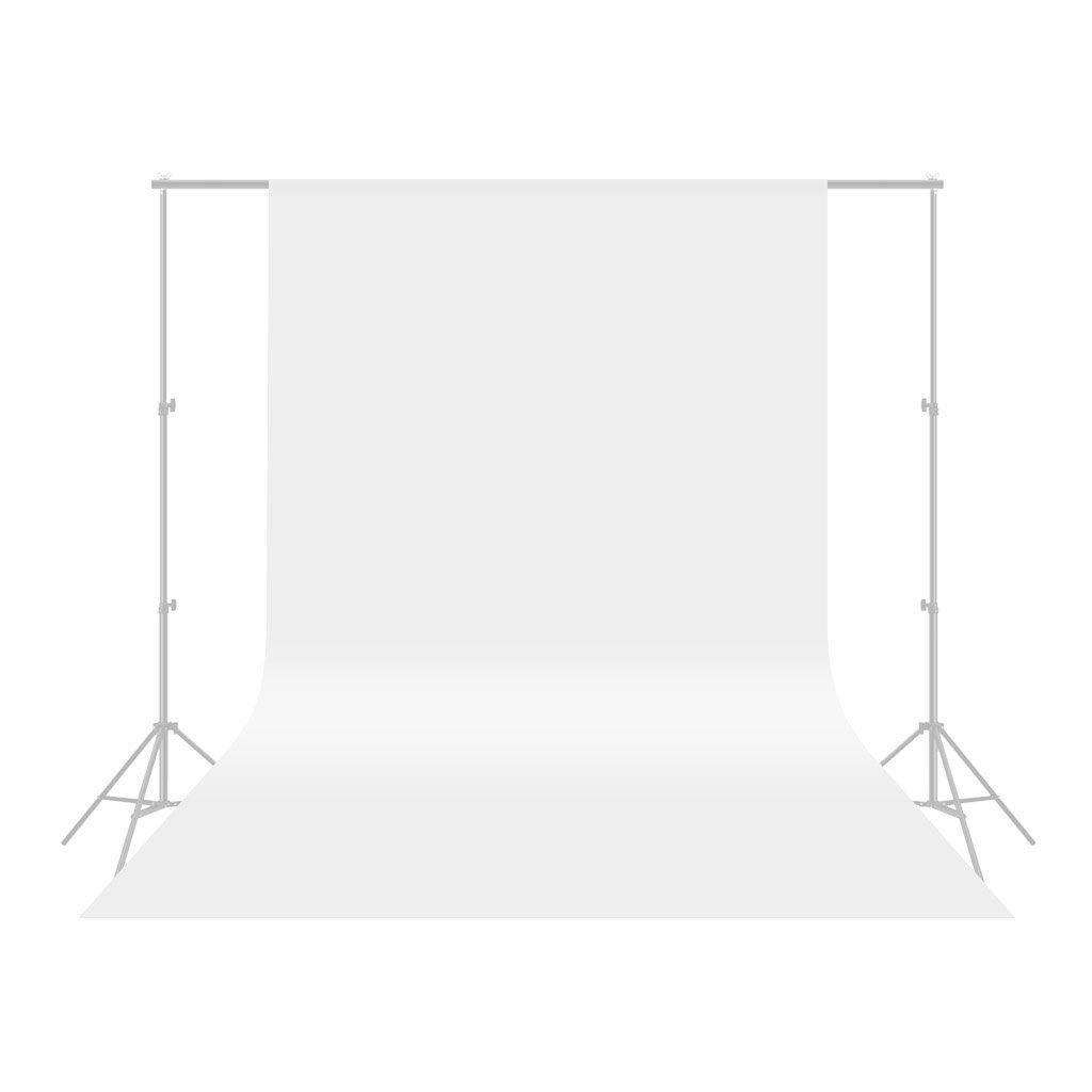 CRAPHY - Telón de Fondo para Estudio Fotográfico, Vídeo y Televisión, 100% Muselina Pura, Color Blanco, 1.8 * 3M, Incluye únicamente el Fondo