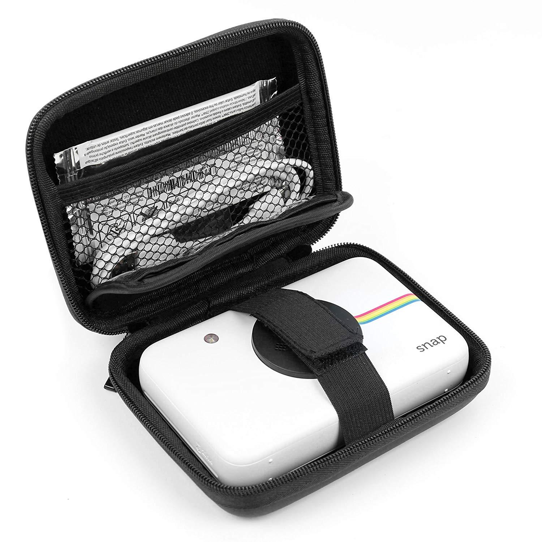 DURAGADGET Funda Rígida Negra Para Cámara digital Polaroid SNAP Touch - Con Mini Mosquetón - Resistente Y Duradera