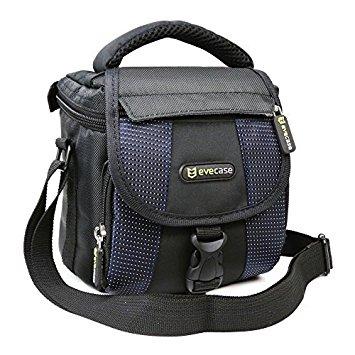Evecase Bolsa para Camera Compacta Digital, Micro 4/3, Camera EVIL, Instax Camera Instantánea, Negro