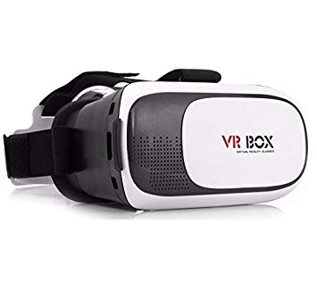 Genius Factory ®VR BOX 2.0 3D Gafas de Realidad Virtual HD para Smartphone Head-Mounted Cartón Versión con Ajustable Lente y Correa VR BOX movil universal (BLANCO)