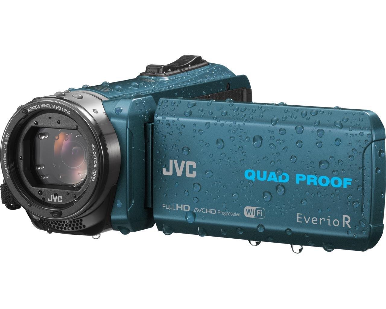 JVC Everio R Quad Proof Videocámara Sumergible, color azul