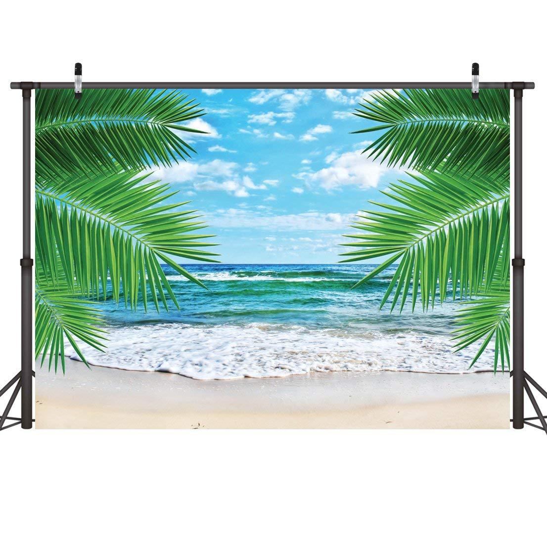 LYWYGG Playa Tropical Vinilo Banner Perfecto Telón De Fondo Para Fotografías 7X5ft Foto Telones De Fondo, Banners, Pared Cubierta, Cortina, Mantel, Decoracion CP-7