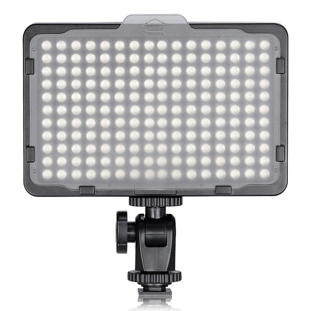 Neewer 176 LED Ultra Brillante regulable Luz Video LED cámara con 1/4 de pulgada rosca montura para Canon, Nikon, Pentax, Panasonic, Sony, Samsung, Olympus y otras cámaras digitales SLR, 5600K