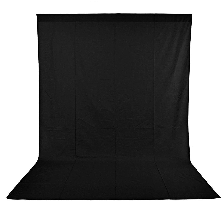 Neewer, Fondo Fotográfico de Muselina para Estudio Fotográfico, Vídeo y Televisión, 1.8 x 2.8 m, Negro
