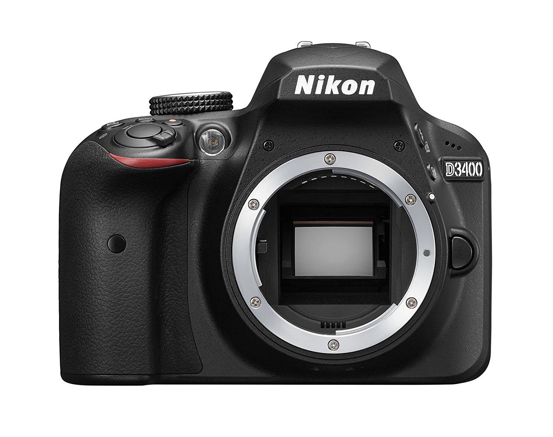 """Nikon D3400 Cuerpo - Cámara réflex Digital DE 24,2 MP (Pantalla LCD 3"""", vídeo Full HD), Color Negro [Versión Europea]"""