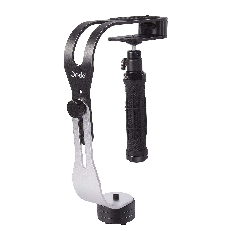 Orsda Portátil Estabilizadores de Cámara Estable Steadicam, Perfecto para GoPro Canon Nikon Sony Fujifilm DSLR y DV Cámaras hasta 2.1 lbs Con Suave Estable Glide Cam OR060