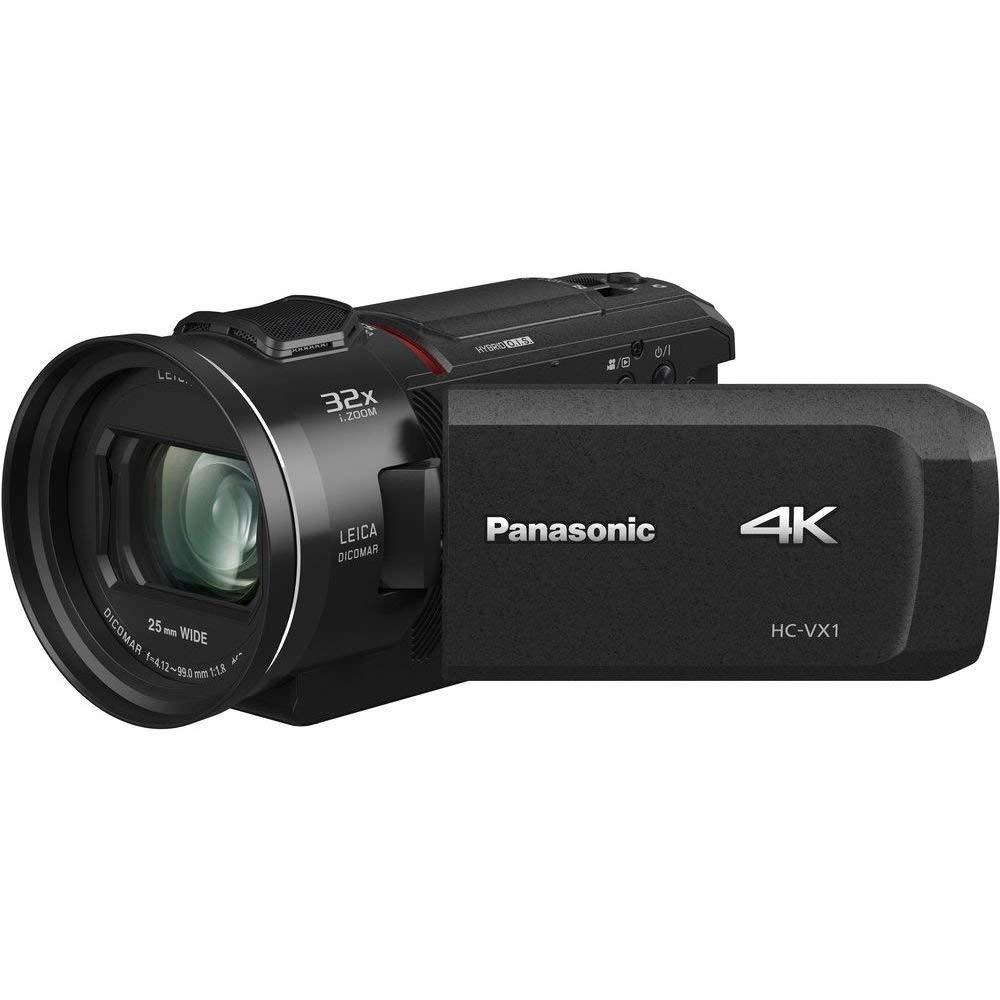 Panasonic hc-vx1eg-k Videocámara compacta Ultra HD 4K, Gran Angular 25mm, Zoom óptico 24x, 4K cropping, WiFi, Negro