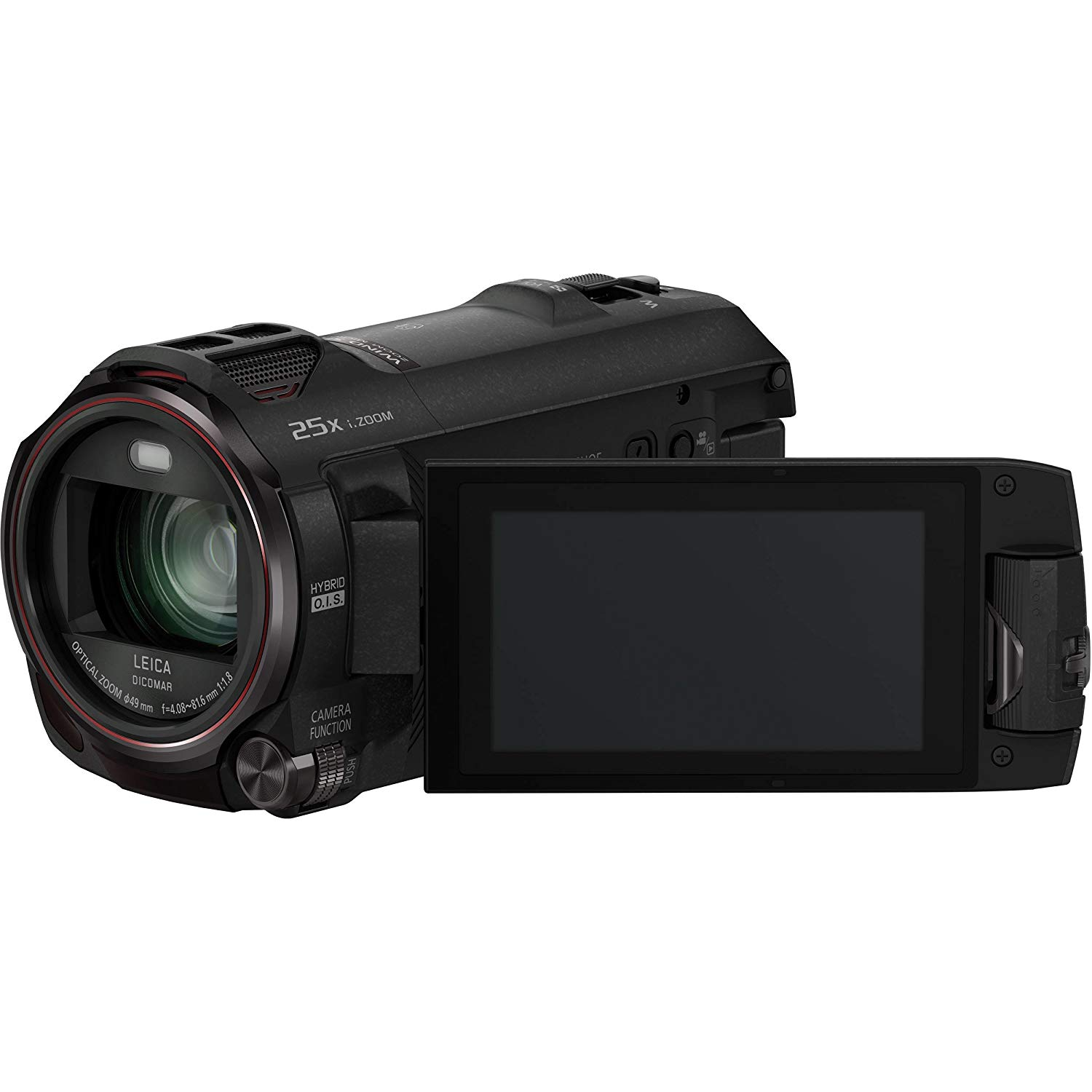 "Panasonic HC-WX970 - Videocámara de 18 MP (pantalla de 3"", grabación de video 4K, zoom óptico 20x), color negro"