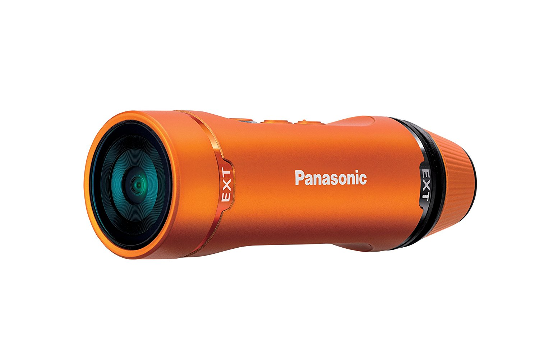 Panasonic HX-A1ME-D - Videocámara Deportiva (Full HD 30p, WiFi, Sumergible 1.5 MT), Naranja