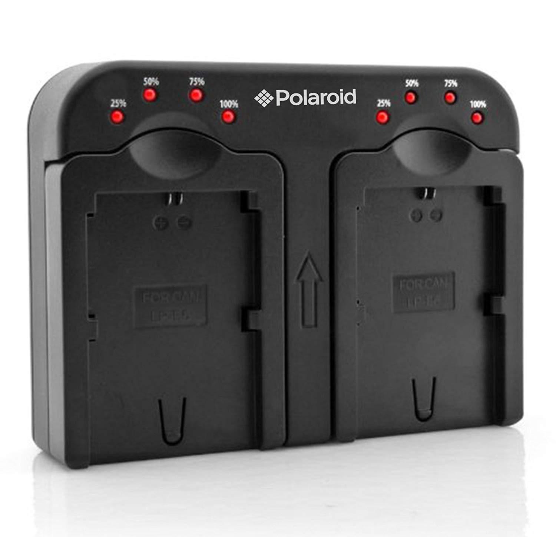 Polaroid doble (doble)-Cargador de batería con 2 pilas de carga al mismo tiempo para El Canon NB-4L, NB-5L, NB-6L, BP-808, BP-809, BP-819, BP-827, BP-, BP-915 945, BP-970-Cargador de pilas