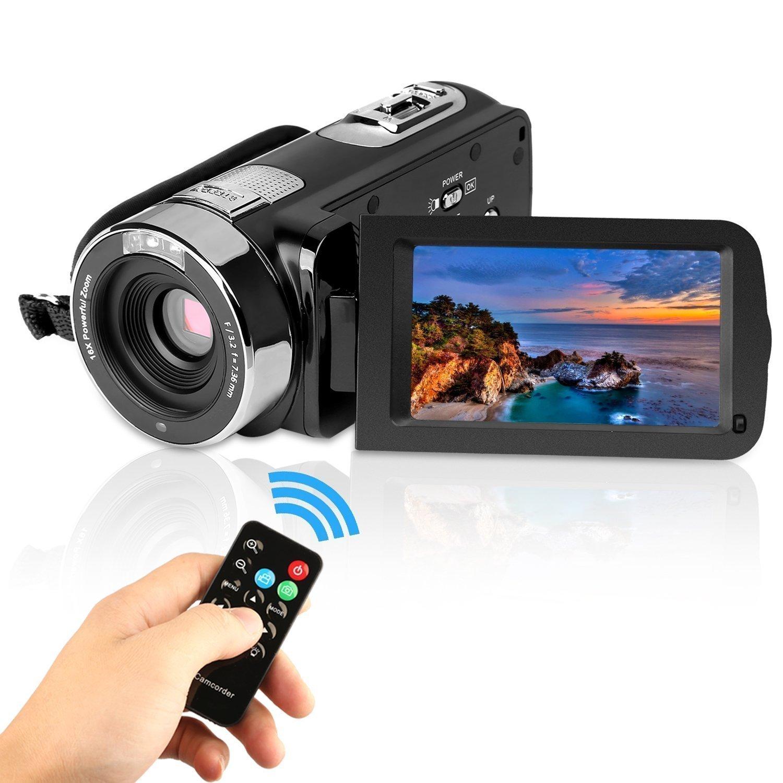 PowerLead Videocámaras Digitales HD 1080p, IR Visión Nocturna 24.0 Mega Píxeles Mejorada Cámara Digital ,16x Zoom, DV 2.7 LCD ,HDV Videocámara Portátil (General)