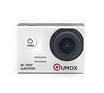 QUMOX Original SJ5000 - Cámara de Deporte para casco Impermeable, Video de Alta definición 1080p Full-HD de 2.0 pulgadas 2'' 170 ° Lente Submarino HD impermeabilizan la videocámara DVR, Color Blanca