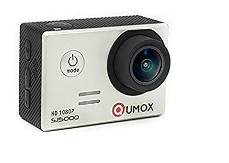 'QUMOX SJ5000Cámara deportiva Videocámara de 2.0pulgadas de 2170° Lente Impermeable Plata