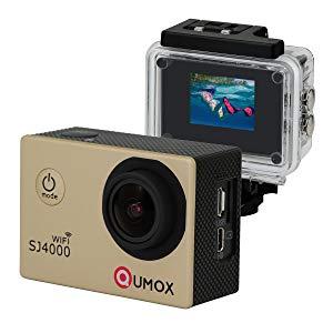 QUMOX WIFI SJ4000 - Cámara de Deporte para casco Impermeable, Video de Alta definición 1080p 720p, Oro