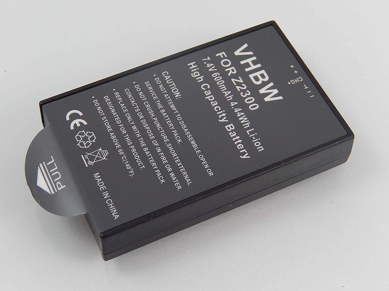vhbw Li-Ion Batería 600mAh (7.4V) para Cámara Réflex Digital como Polaroid CZA-05300
