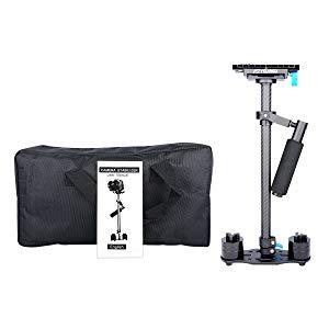 YELANGU ajustable S60T Fibra de Carbono Tubo 60cm Handheld Steadycam Estabilizador de la cámara de vídeo réflex Mini Steady Cam