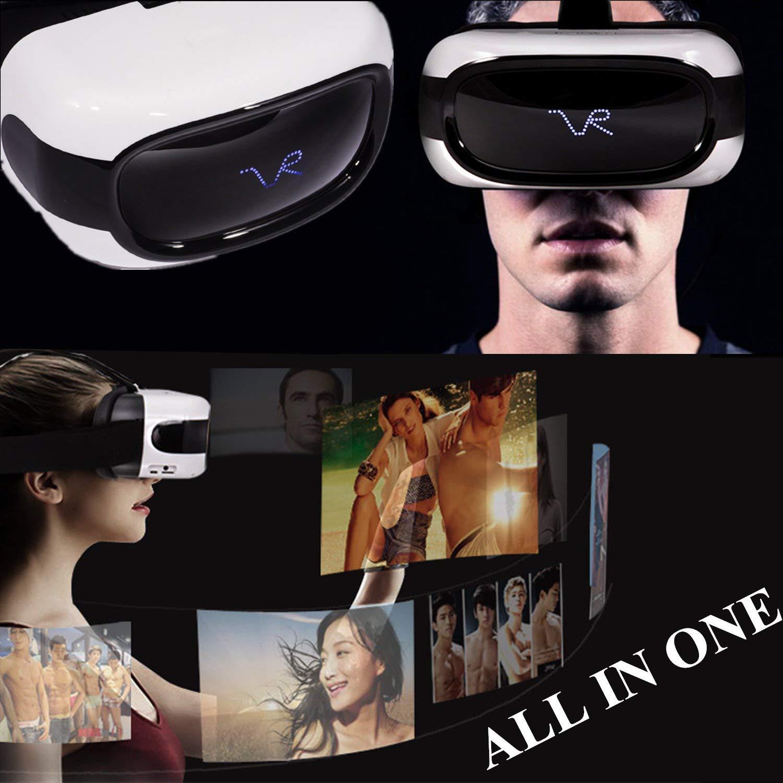 """3d VR gafas Todo en Uno, bevifi 5de realidad virtual auriculares """"1280x 720LCD pantalla Android 5.1VR móvil con 1GB de RAM 8GB memoria, apoyo WIFI/TF tarjeta/USB OTG (teléfono no necesita)"""