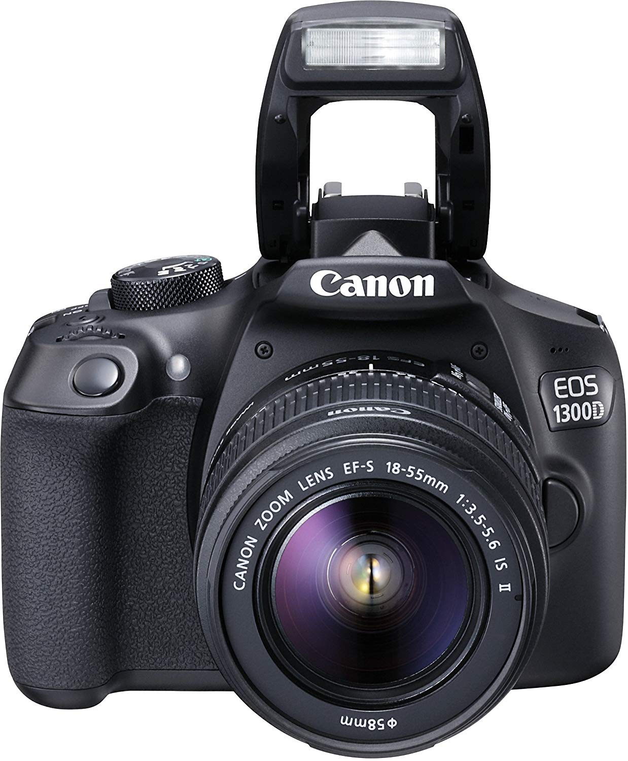 "Canon EOS 1300D - Cámara réflex de 18 Mp (pantalla de 3"", Full HD, 18-55 mm, f/1.5-5.6, NFC, WiFi), color negro - Kit con objetivo EF-S 18-55 mm f/3.5-5.6 IS II (versión importada)"