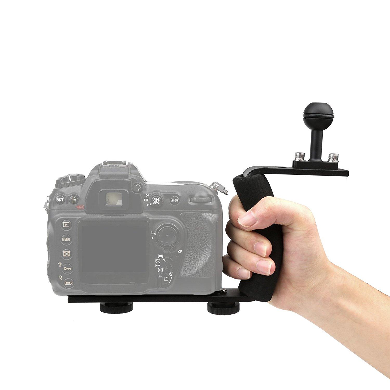 D & F aleación de Aluminio Handheld Estabilizador Cámara Gimbal Grip para GoPro 6/5/4/3+/3 SJCAM y cámaras Canon, Nikon, Sony cámara réflex digital