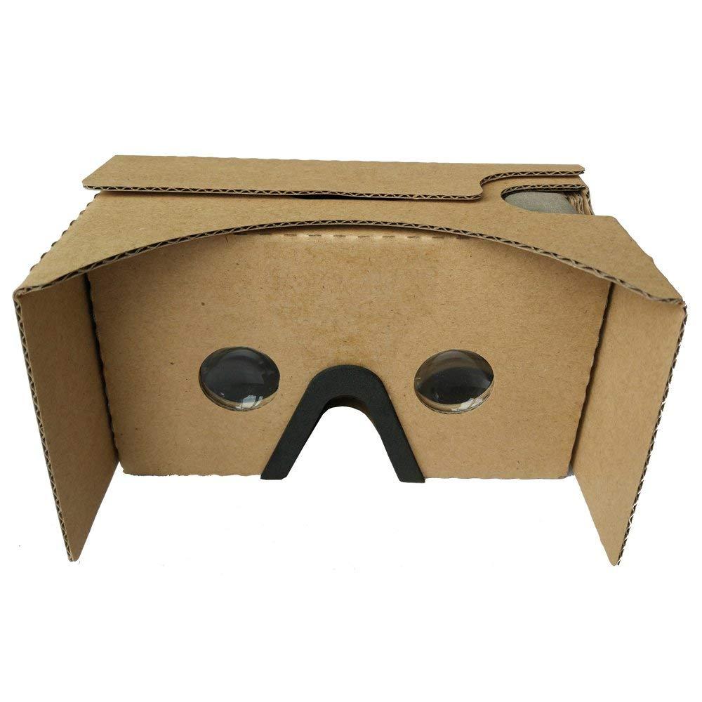 ihuaqi gafas 3d vr Google cartón Kit con cómodo nariz Pad compatible con Android/iOS hasta 6pulgadas teléfono inteligente fácil de usar y controled negro y amarillo