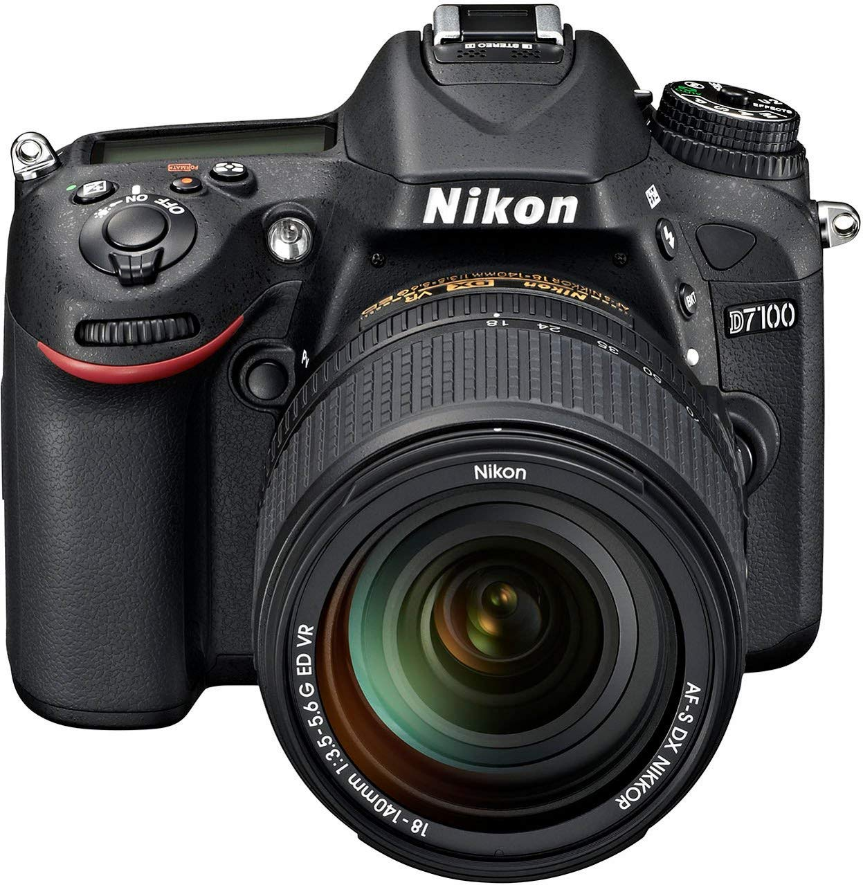 "Nikon D7100 - Cámara réflex digital de 24.1 Mp (Pantalla 3.2"", estabilizador óptico, vídeo Full HD), negro - kit con objetivo 18-140 mm VR"