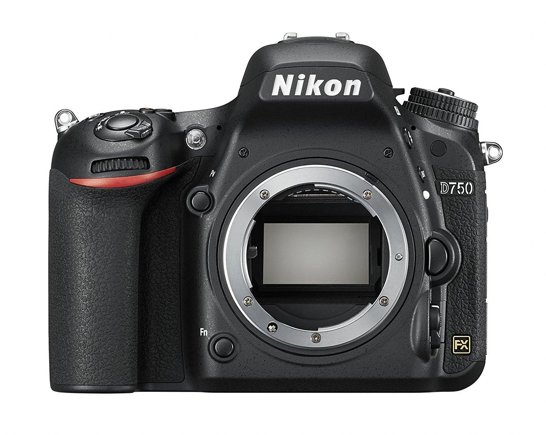 "Nikon D750 - Cámara réflex digital de 24.3 Mp (pantalla 3.2"", vídeo Full HD), color negro - Solo cuerpo, Inglés y japonés"